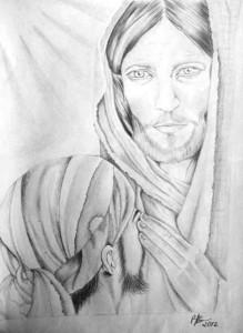 tablouri_alb_negru_ozana_botoran_iisus_hristos