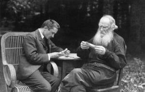 (Foto: Bulgakov și Tolstoi)