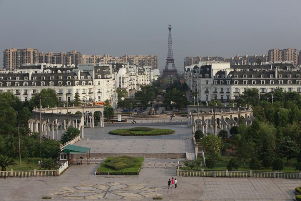 View of the Tianducheng development in Hangzhou