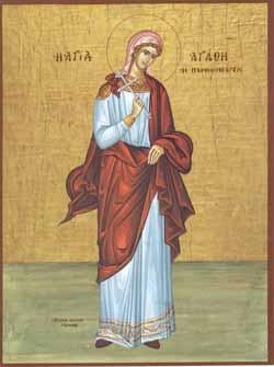 Pe 5 Februarie o sarbatorim pe Sfânta Agata