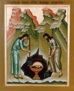 cinstitul cap al Sf Ioan Botezatorul
