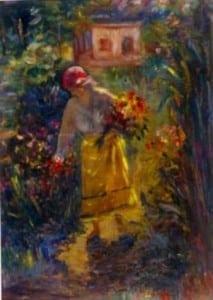 1394555947Samuel Mutzner, Femeie culegand flori