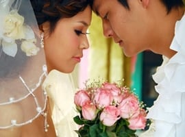 married-couple-with-bouquet-montage