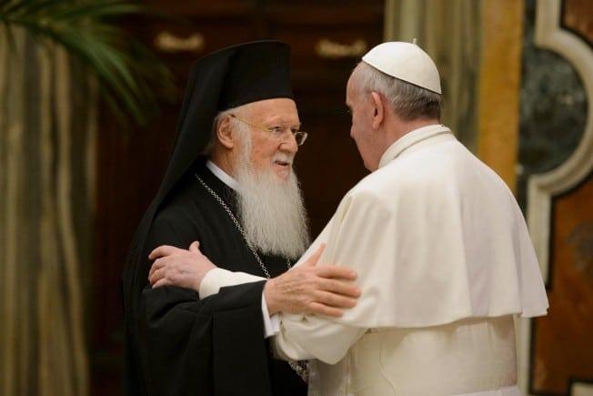 Papa Francisc și Patriarhul Constantinopolului