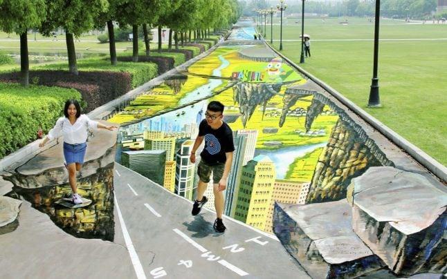 pictură stradală 3D