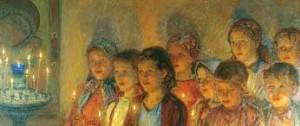 copiii in biserica