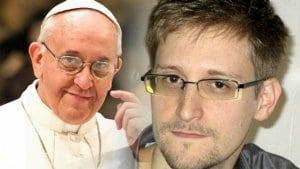 papa-francisc-Edward Snowden