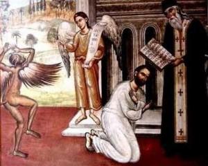 Spovedania-duhovnic-penitent-inger-diavol