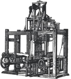 razboi mecanic dotat cu mecanism jaquard