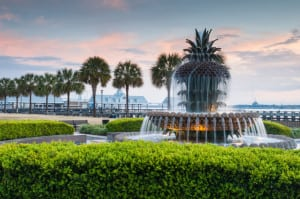 Pineapple Fountain Charleston South Carolina Waterfront Park
