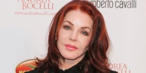"LOS ANGELES, CA - JUNE 06:  Actress Priscilla Presley attends Simin Hope Foundation's ""Celebration Of All Fathers"" Gala Dinner at Paramount Studios on June 6, 2013 in Los Angeles, California.  (Photo by Paul Archuleta/FilmMagic)"