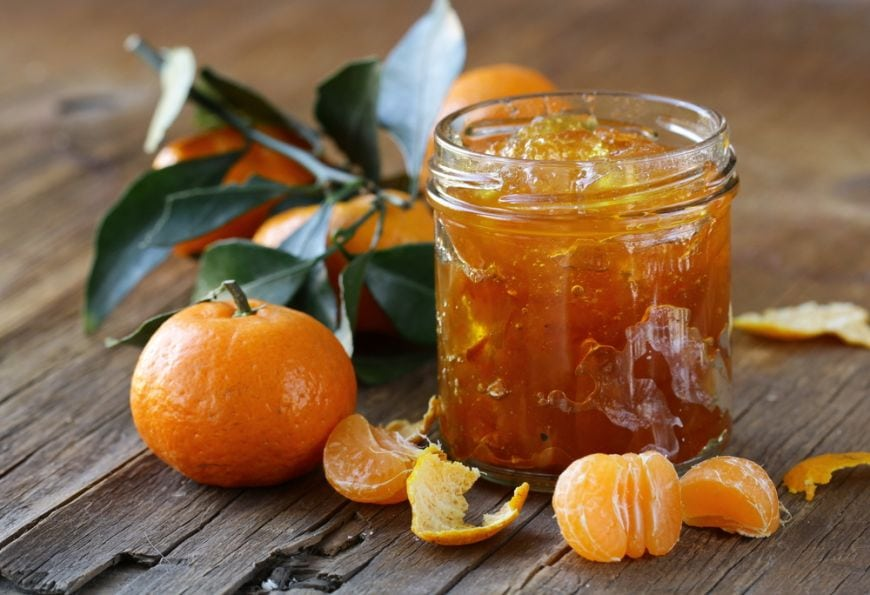 dulceata și șerbet de portocale
