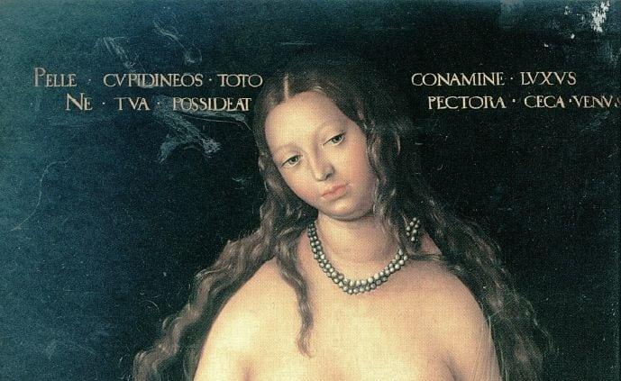 Lucas Cranach cel batran, venus- amor