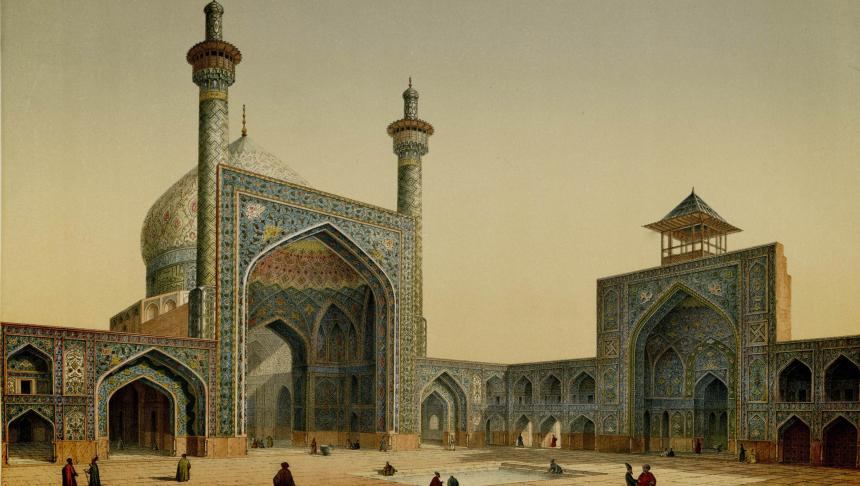 masjid_shah_view_of_the_courtyard_by_pascal_coste