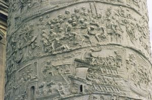 Detail Showing Frieze with Dacian Campaign Scenes from the Column of Trajan