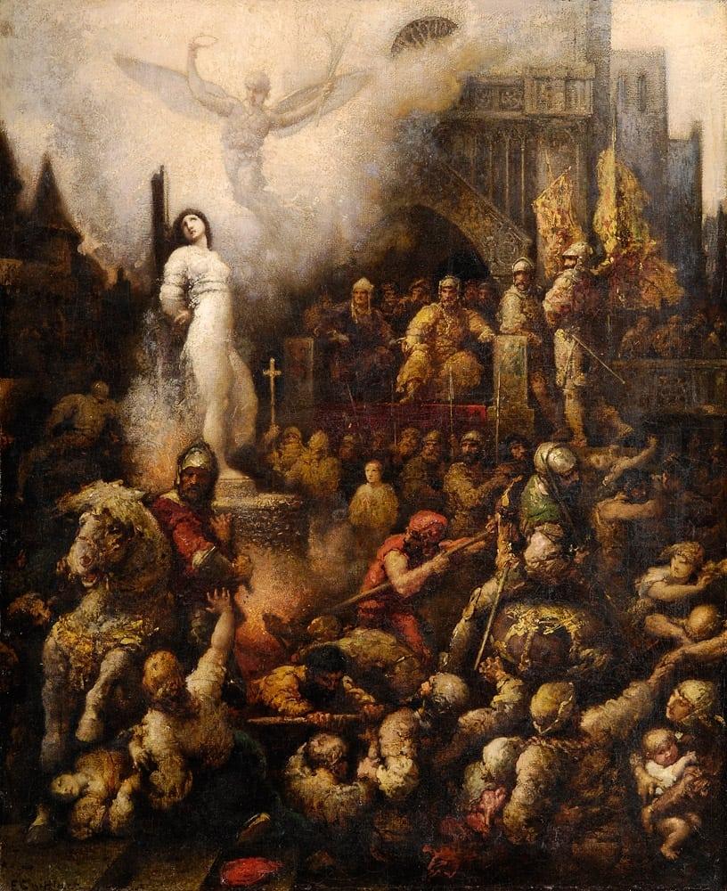 File de istorie – Ioana D'arc pe rug
