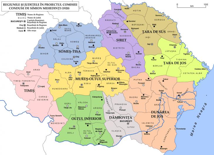 1 Decebrie. Harta României după Marea Unire