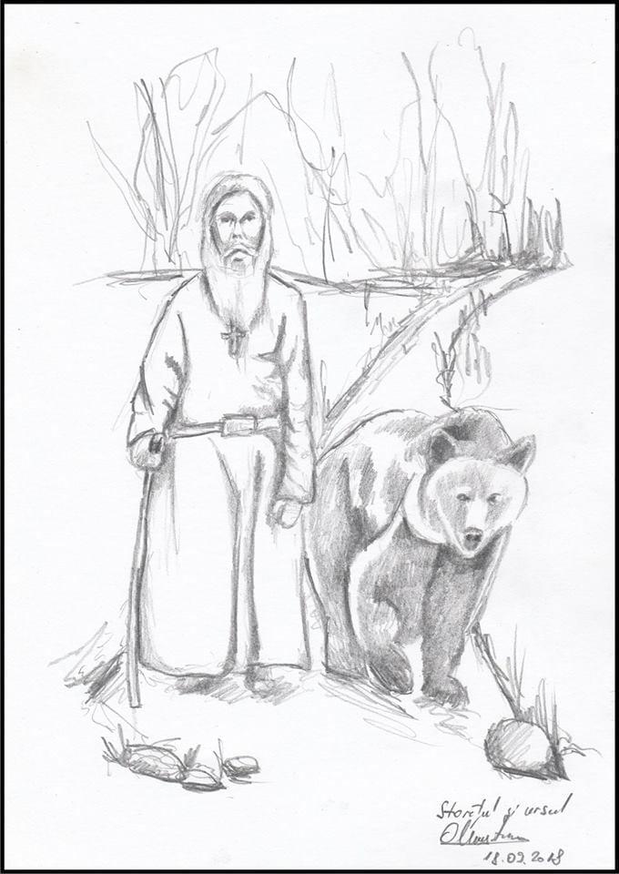 starețul și ursul