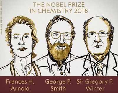 NOBEL 2018: Cercetătorii Frances H. Arnold, George P. Smith şi Gregory P. Winter primesc Nobelul pentru Chimie