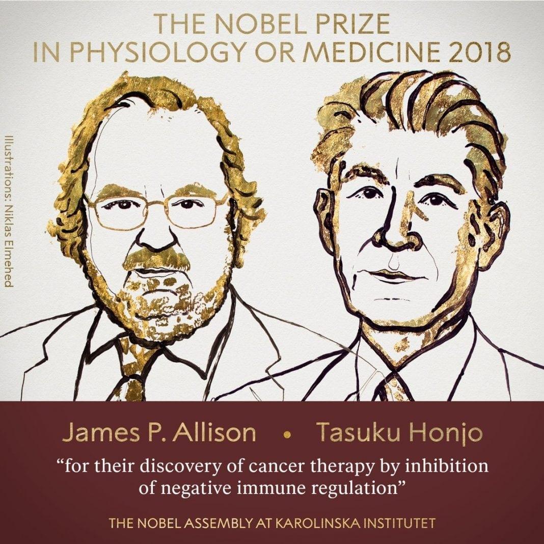 NOBEL 2018: James P. Allison şi Tasuku Honjo primesc Nobelul pentru medicină