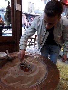 cafea la nisip- Turcia -Arhivă personală