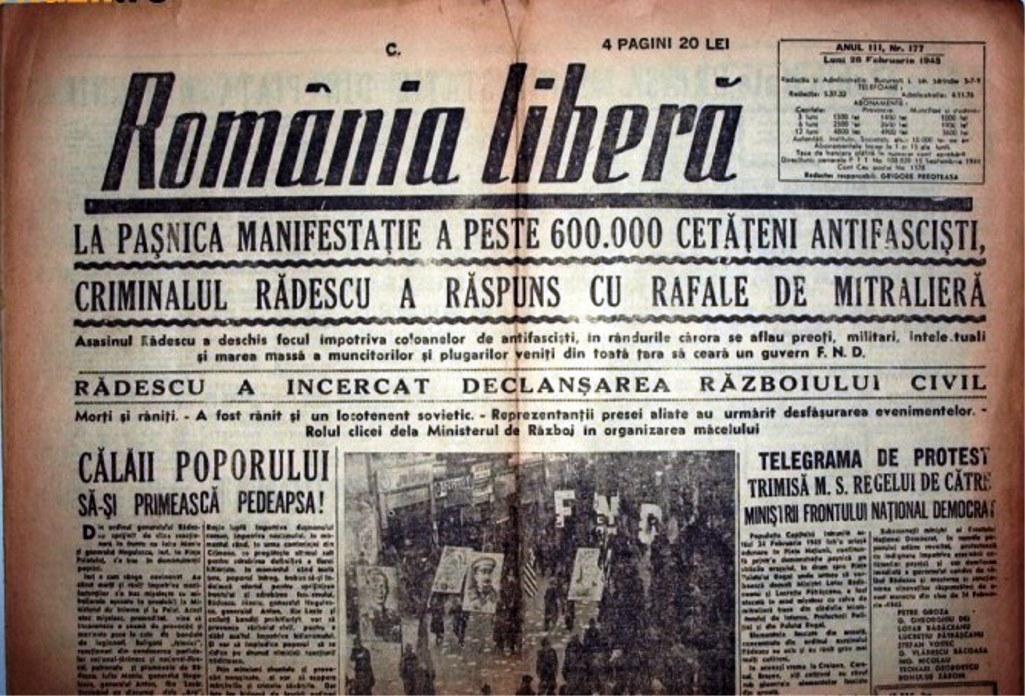 Imagini pentru manifestatia fnd 24 febr 1945 photos