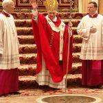 S-a întâmplat în 19 aprilie 2005: A fost ales noul Papă, ca succesor al papei Ioan Paul al II-lea, în persoana cardinalului Joseph Ratzinger, care şi-a ales numele de Benedict al XVI-lea. În același timp, a deținut funcția de episcop al Romei și suveran al statului Vatican. Este primul papă german după 482 de ani (ultimul papă german a fost Papa Adrian al VI-lea, în perioada 1522-1523). Înaintea alegerii sale ca papă, cardinalul Ratzinger a fost decan al colegiului cardinalilor, prefect al Congregației pentru Doctrina Credinței și președinte al Comisiei pontificale teologice internaționale.